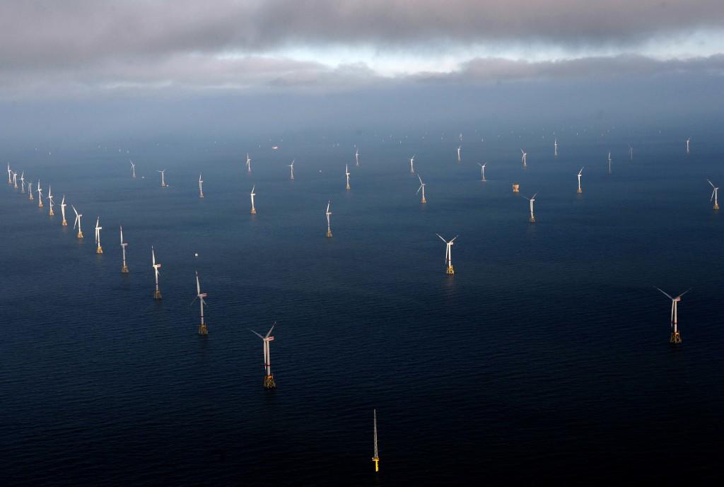 RWE- Windpark Nordsse Ost - Fertigstellung 28.12.14 Luftfoto Scheer